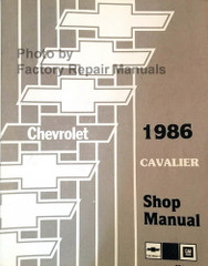 1986 Chevrolet Cavalier Shop Manual