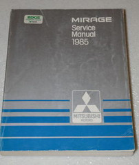 1985 MITSUBISHI MIRAGE L LS TURBO Factory Dealer Shop Service Repair Manual Book
