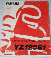 1993 YAMAHA YZ125 YZ125E1 Original Factory Dealer Owners Shop Service Manual