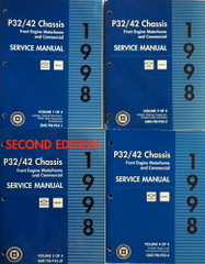 1998 P32/42 Front Engine Motorhome and Commercial Service Manual Volume 1, 2, 3, 4