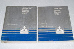 1987 Mitsubishi Galant Service Manual Volume 1, 2