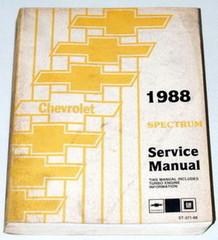 1988 Chevy Spectrum Shop Manual