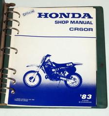 1983 Honda CR60R Motorcycle Factory Shop Service Manual in Binder