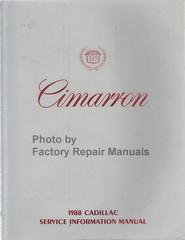 Cimarron 1988 Cadillac Service Information Manual