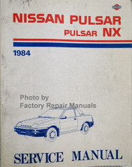 1984 Nissan Pulsar Pulsar NX Service Manual