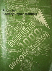1986 Pontiac 1000 Service Manual