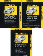 2005 Toyota Matrix Factory Service Manual 3 Volume Set Original Shop Repair