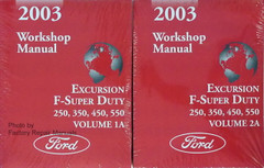 2003 Ford F250 F350 F450 F550 Super Duty Truck Excursion Wiring Diagrams New Factory Repair Manuals