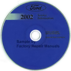 2002  Ford F-Super Duty 250, 350, 450, 550 Service Information Manual CD