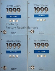 Service Manual 1999 C/K Truck Chevrolet GMC Cadillac Volume 1, 2, 3, 4
