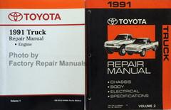 1991 Toyota Truck Electrical Wiring Diagrams Original Manual Factory Repair Manuals