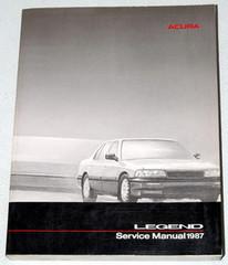 1987 Acura Legend Sedan Service Manual