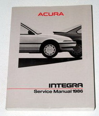 1986 Acura Integra Service Manual