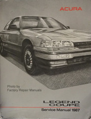 1987 Acura Legend Coupe Service Manual
