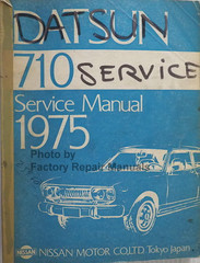 Datsun 710 Service Manual 1975