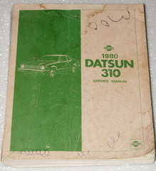 1980 Datsun 310 Factory Service Manual Original Nissan Shop Repair