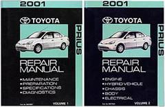 2001 Toyota Prius Factory Service Manual Set Original Shop Repair