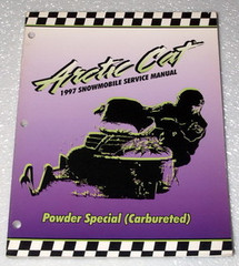 1997 ARCTIC CAT POWDER SPECIAL Carbureted 580cc Snowmobile Shop Service Manual