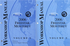 Ford Mercury 2006 Freestar Monterey Workshop Manual Volume 1, 2