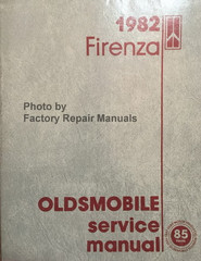 1982 Firenza Oldsmobile Service Manual