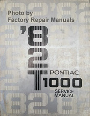 1982 Pontiac T1000 Service Manual