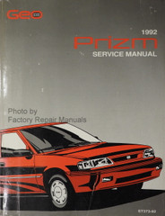 1992 GEO Prizm Factory Service Manual