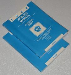 1988 Dodge Grand Caravan Plymouth Voyager Mini Ram Van Shop Service Manual Set