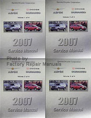 2007 Service Manual Chrysler Aspen Dodge Durango Volume 1, 2, 3, 4