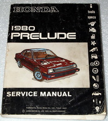 1980 HONDA PRELUDE Original Factory Dealer Shop Service Repair Manual Book 80