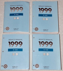 Service Manual 1999 G Van Chevrolet Express GMC Savana Volume 1, 2, 3, 4