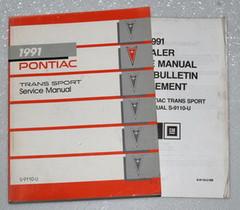1991 PONTIAC TRANS SPORT MINI-VAN SE Factory Shop Service Repair Manual + Update