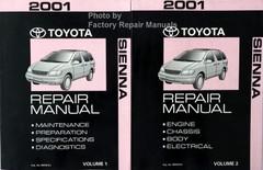 2001 Toyota Sienna Repair Manual Volume 1 and 2