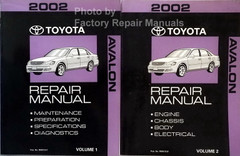 2002 Toyota Avalon Repair Manual Volume 1 and 2