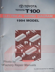 Toyota T100 Electrical Wiring Diagrams 1994 Model