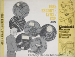 1985 Ford Escort/Lynx/EXP Electrical and Vacuum Troubleshooting Manual
