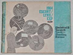 1984 Ford Escort, EXP Mercury Lynx Electrical & Vacuum Troubleshooting Manual
