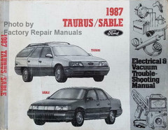 1987 Ford Taurus Mercury Sable Electrical & Vacuum Troubleshooting Manual