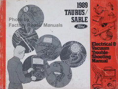 1989 Ford Taurus Mercury Sable Electrical and Vacuum Troubleshooting Manual