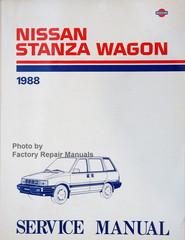 Nissan Stanza Wagon 1988 Service Manual