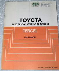 1985 Toyota Tercel Electrical Wiring Diagrams Manual Original