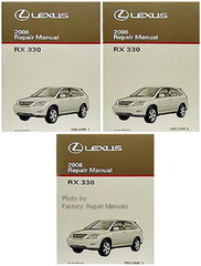 2006 LEXUS RX330 Original Factory Shop Service Repair Manual 3 Volume Set RX 330