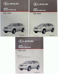 2005 Lexus RX330 Factory Service Manual Set Original RX 330 Shop Repair