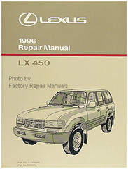 1996 LEXUS LX450 Factory Repair Manual