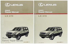 2002 Lexus LX470 Factory Service Manual Set LX 470 Original Shop Repair