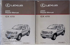 2003 Lexus GX470 Original Factory Shop Service Repair Manual 2 Volume Set GX 470