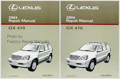 2004 Lexus GX470 Original Factory Shop Service Repair Manual 2 Volume Set GX 470