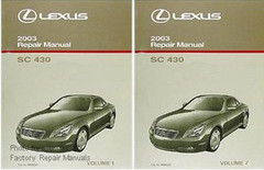 Lexus 2003 Repair Manual SC 430 Volume 1, 2