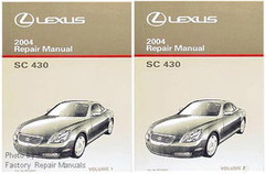 Lexus 2004 Repair Manual SC 430 Volume 1 and 2
