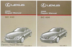 2005 LEXUS SC430 Original Factory Shop Service Repair Manual Set SC 430