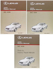 Lexus 2006 Repair Manual SC 430 Volume 1, 2, 3